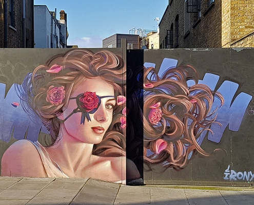 IRONY | London - Camden | woman- pirate with the rose | Picture 2019-12-23 by About Street Art